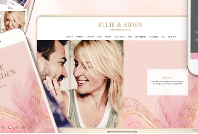Appy Couple Wedding Website