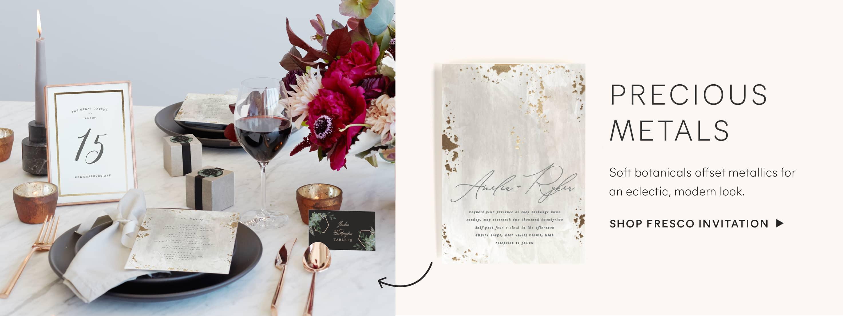Fresco Wedding Invitation