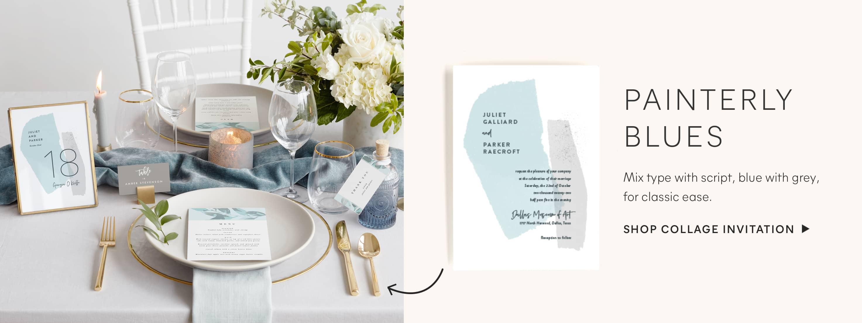 Collage Wedding Invitation