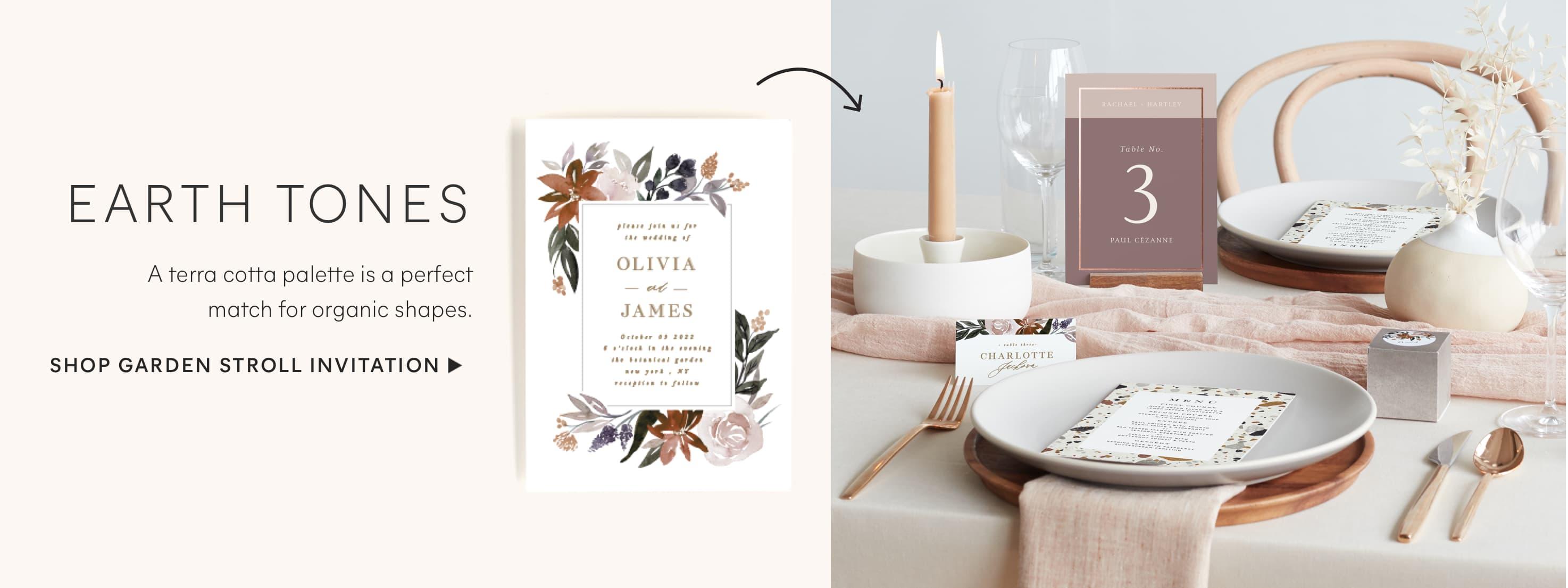 Garden Stroll Wedding Invitation