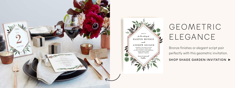 Shade Garden Wedding Invitation