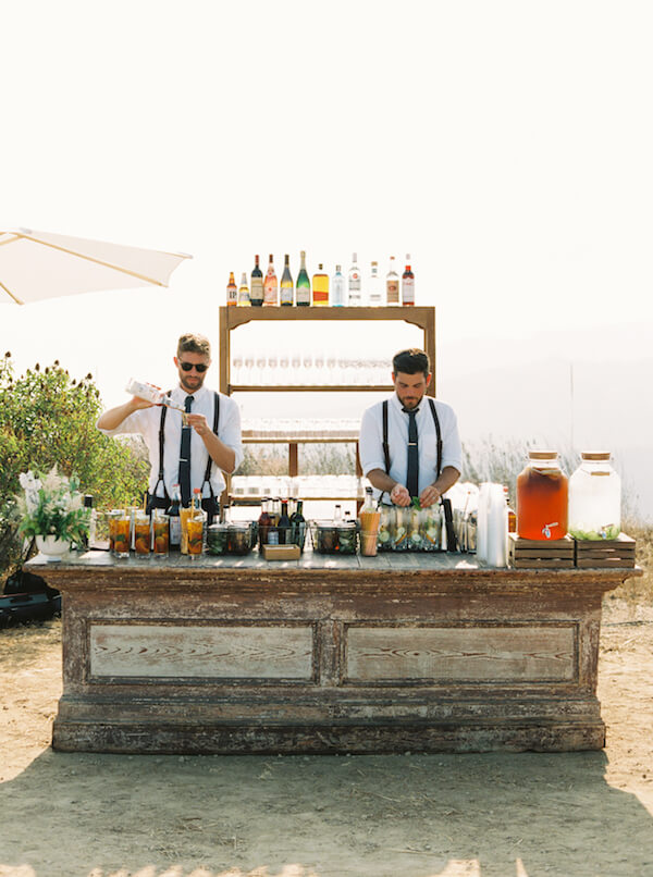 bartenders at wedding