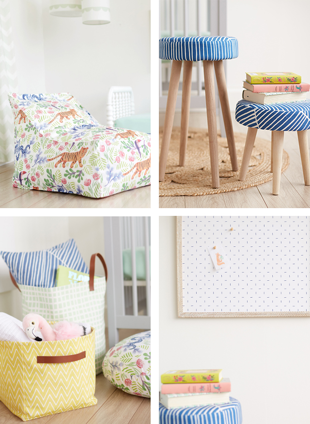 little mint joyful jungle decor collection