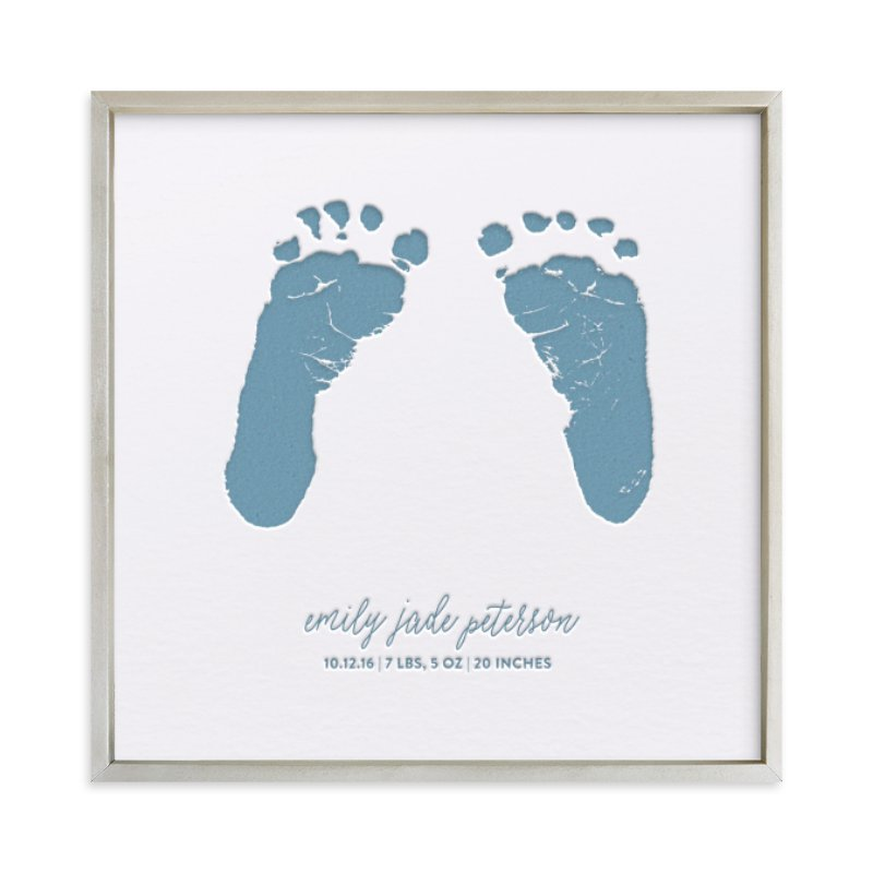 Custom Footprints Letterpress Art Your Drawing As Letterpress Art Print