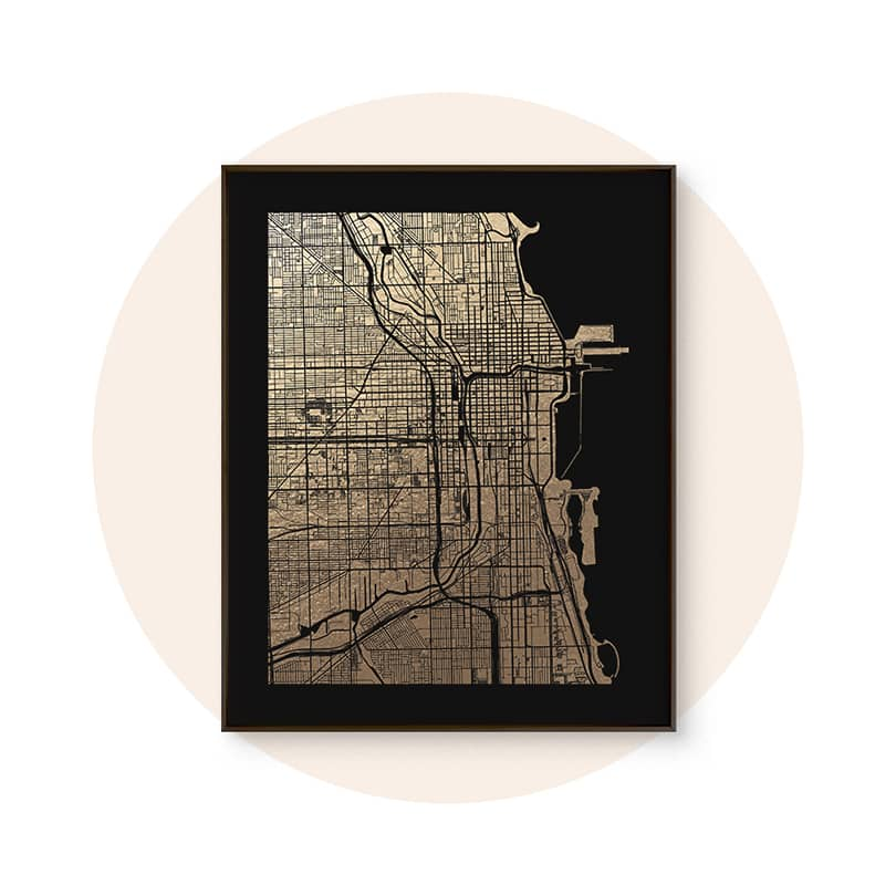Foil-Pressed Maps