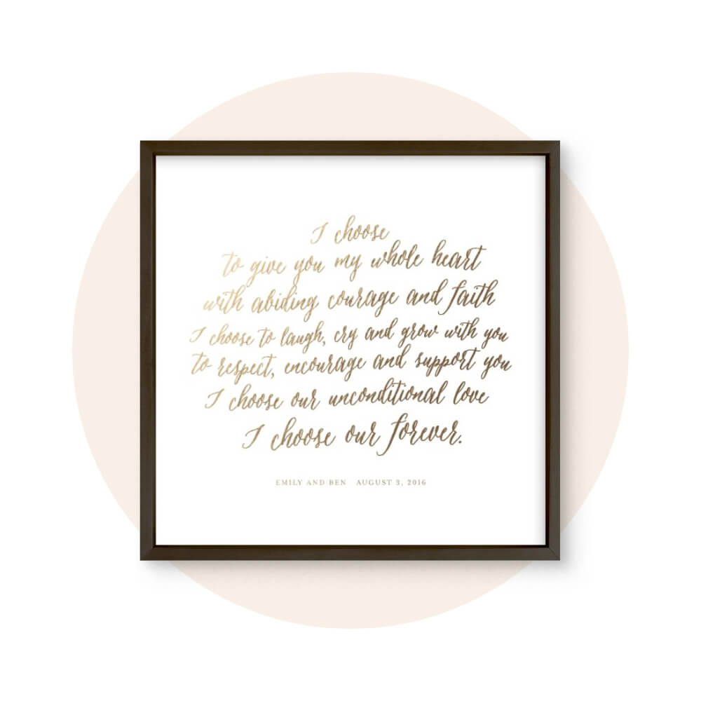 Custom Vows & Quotes