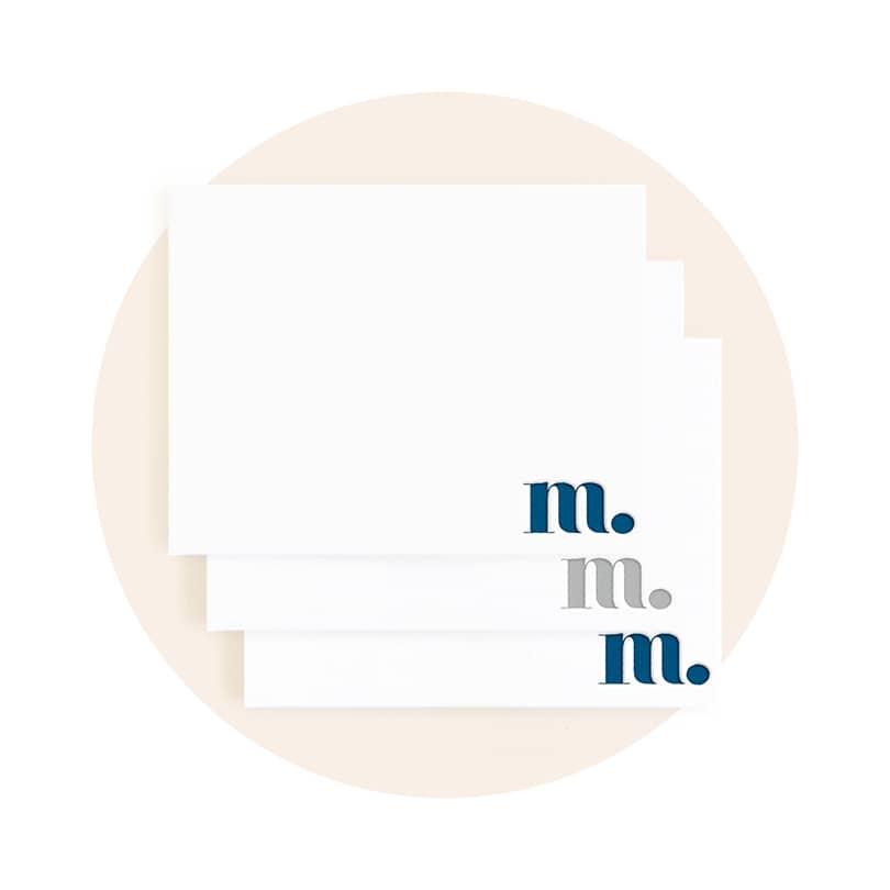 Letterpress Stationery Set