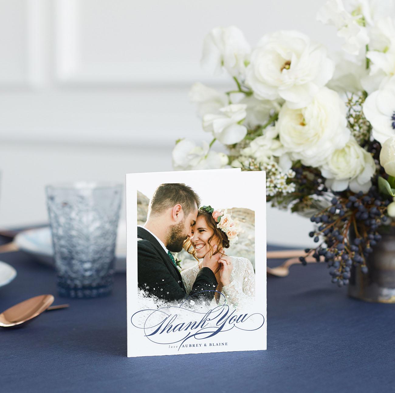 wedding thank you card wording