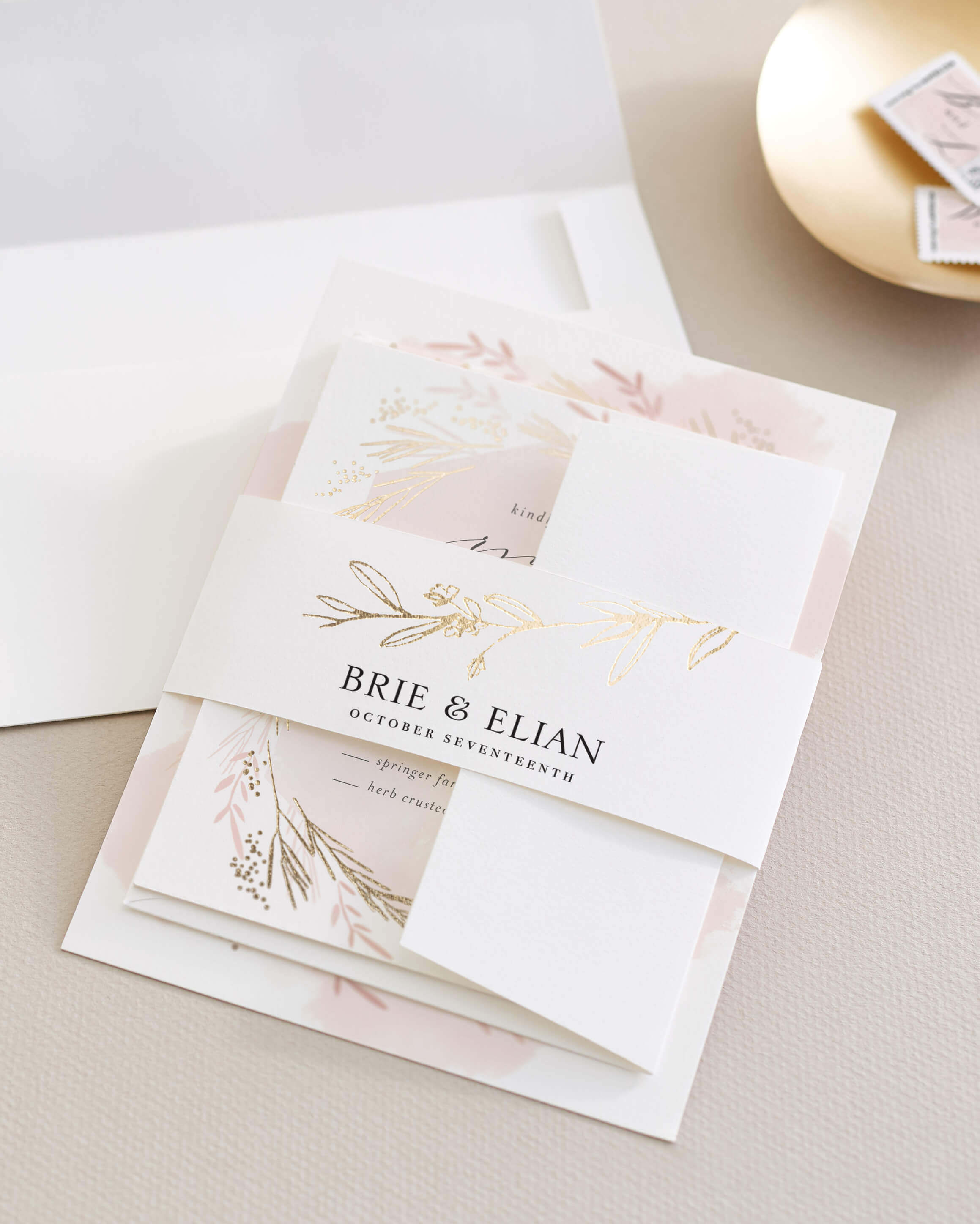 Assembling Wedding Invitations | Minted