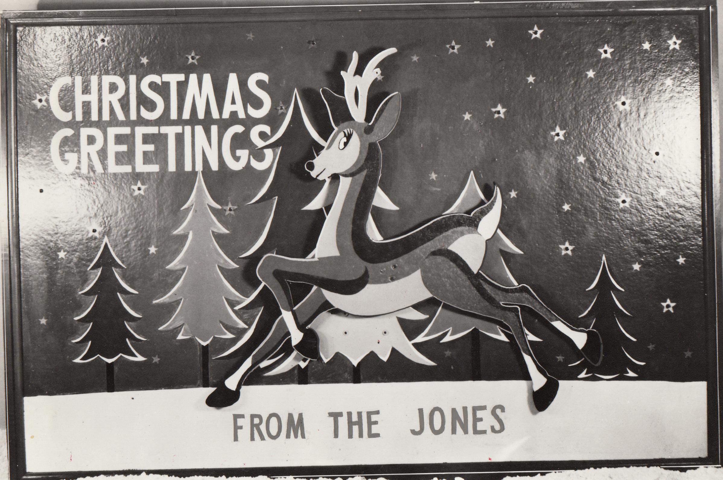 Monochrome holiday card