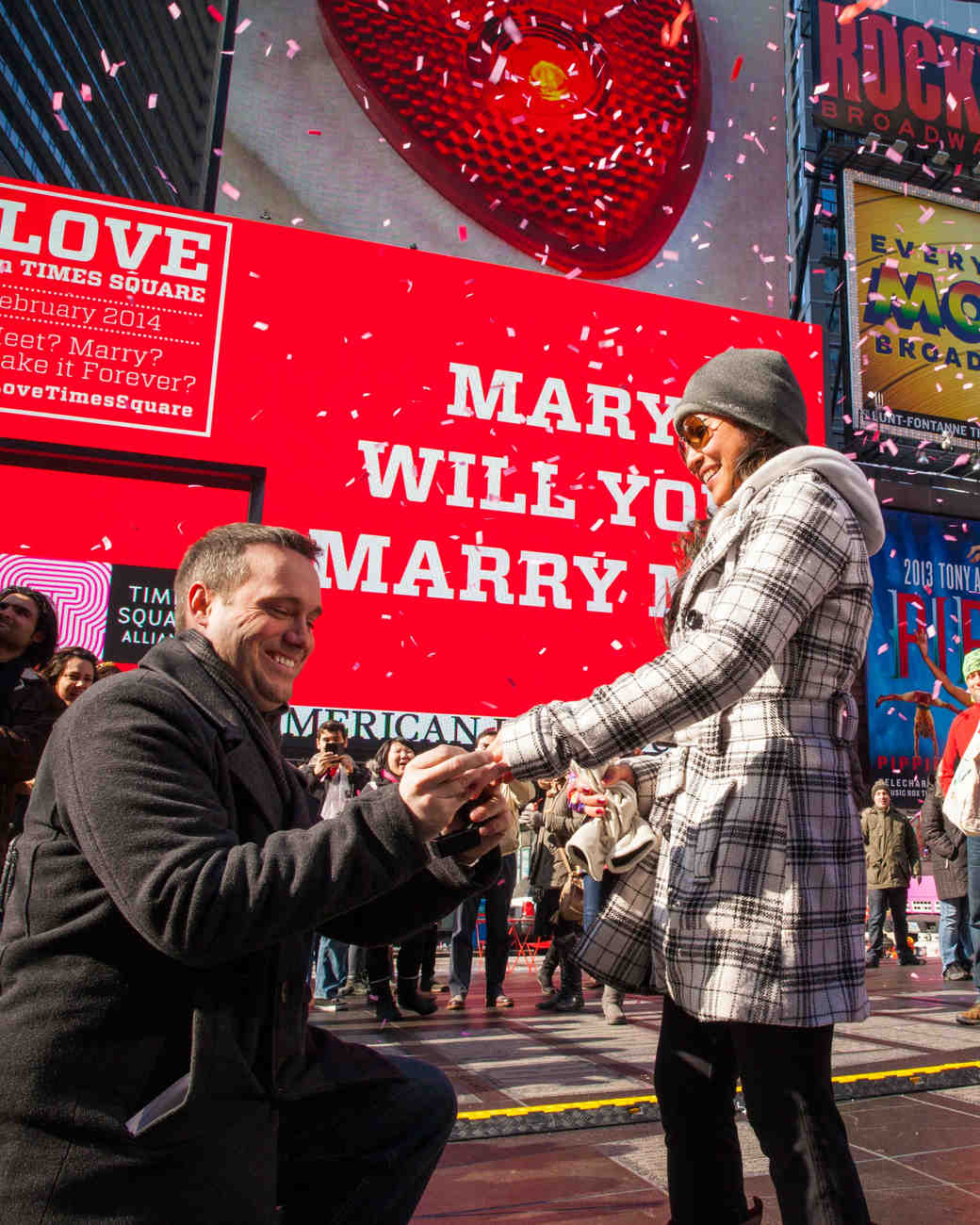 public wedding proposal