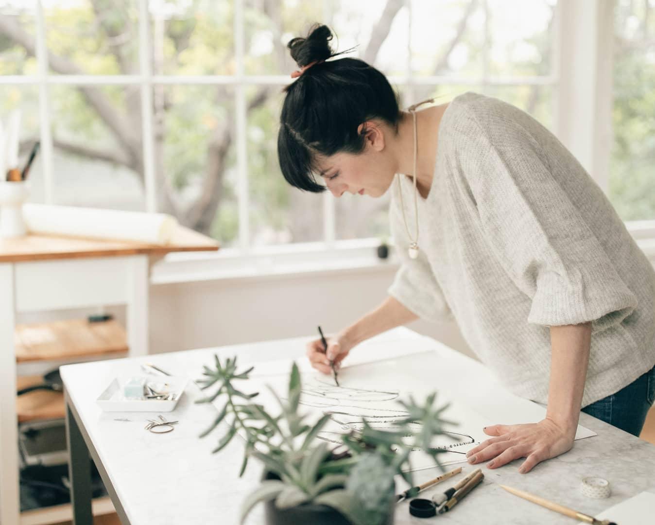 Minted artist Fernanda Martinez in her studio.