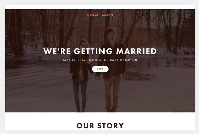 Squarespace Wedding Website