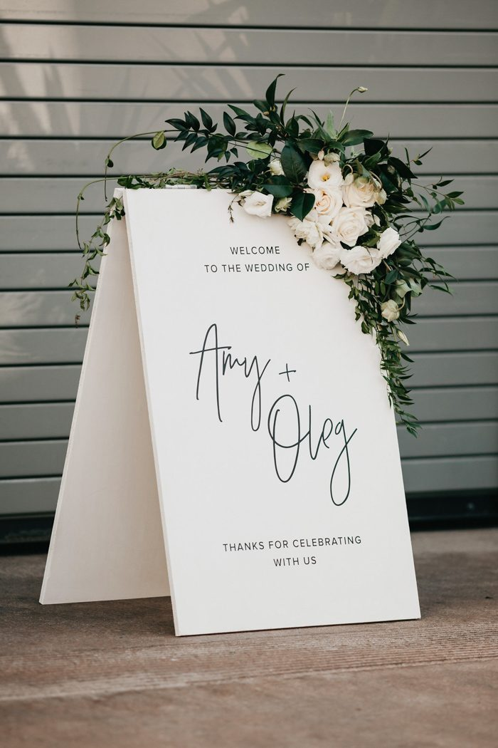 Calligraphed Stone Welcome Sign