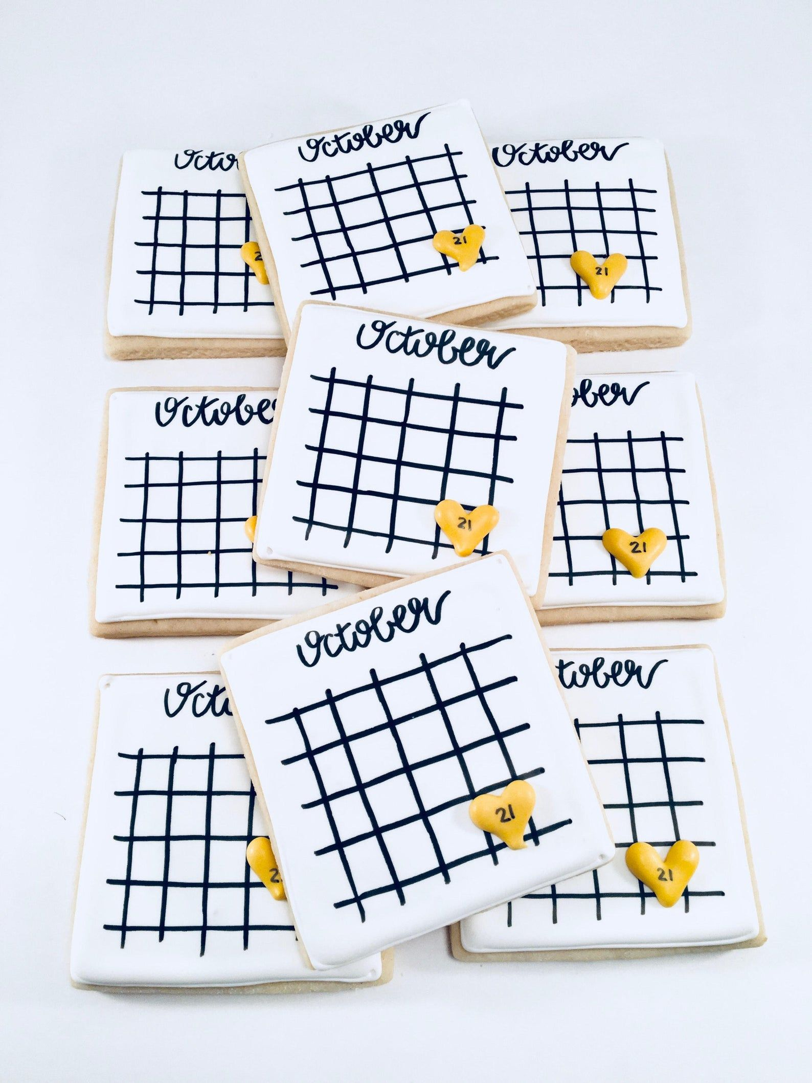 Save the date sugar cookies