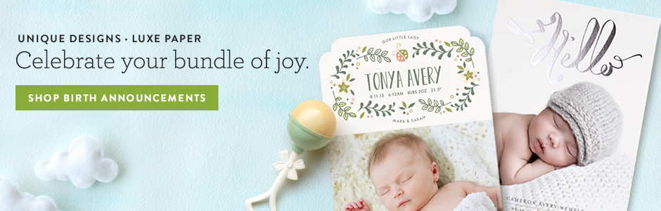 Birth Announcements Minted