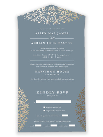 EMERY All-in-One Foil-Pressed Wedding Invitations