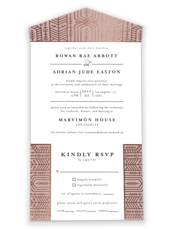 ALEXA All-in-One Foil-Pressed Wedding Invitations