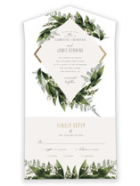 Diamante All-in-One Foil-Pressed Wedding Invitations By Leah Bisch