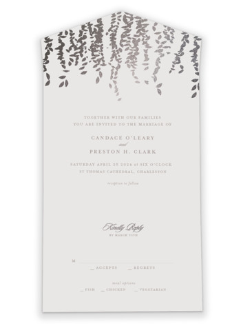 Cascade All-in-One Foil-Pressed Wedding Invitations