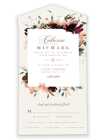 Harvest All-in-One Foil-Pressed Wedding Invitations