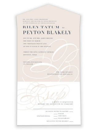 Fresh Monogram All-in-One Wedding Invitations