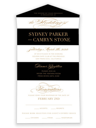 Fashion District All-in-One Wedding Invitations