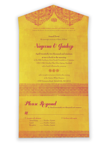 Anand Karaj All-in-One Wedding Invitations