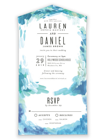 Gallery Abstract Art All-in-One Wedding Invitations