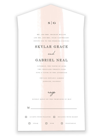 Single Swath All-in-One Wedding Invitations