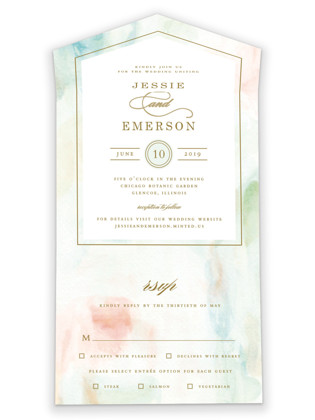 Sway All-in-One Wedding Invitations