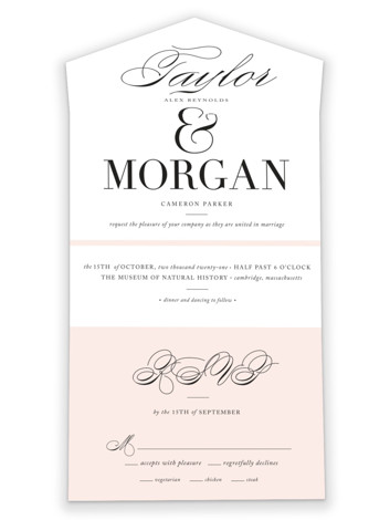Darling And Dashing All-in-One Wedding Invitations