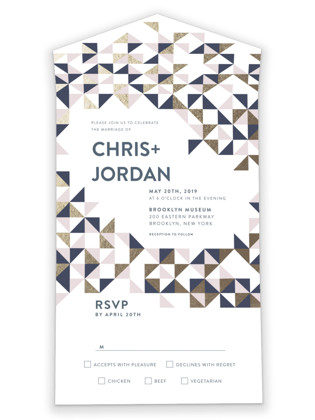 Lovely Geo All-in-One Wedding Invitations