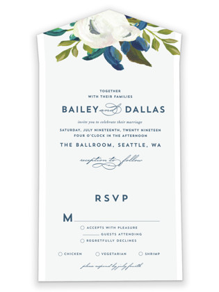 Our Something Blue All-in-One Wedding Invitations