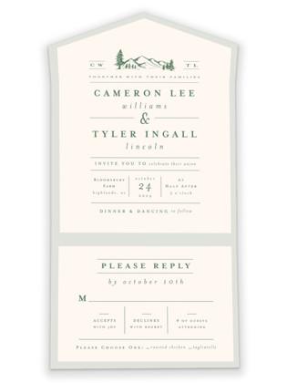 Blue Ridge All-in-One Wedding Invitations