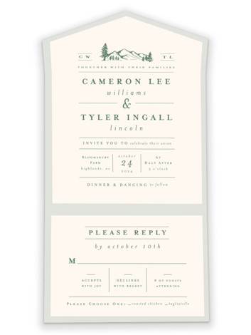 Blue Ridge All-in-One Wedding Invitations
