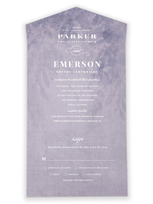 subtle silhouette All-in-One Wedding Invitations