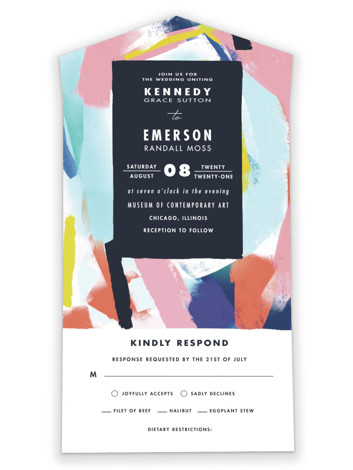 Happy Day All-in-One Wedding Invitations