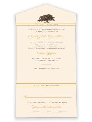 Oak Tree All-in-One Wedding Invitations