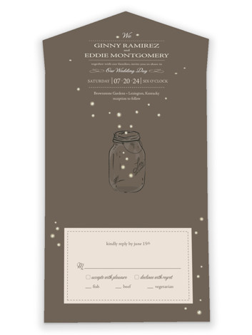 Fireflies All-in-One Wedding Invitations