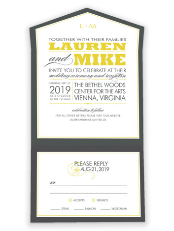 Cocktail Hour All-in-One Wedding Invitations