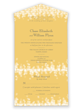Under the Stars All-in-One Wedding Invitations