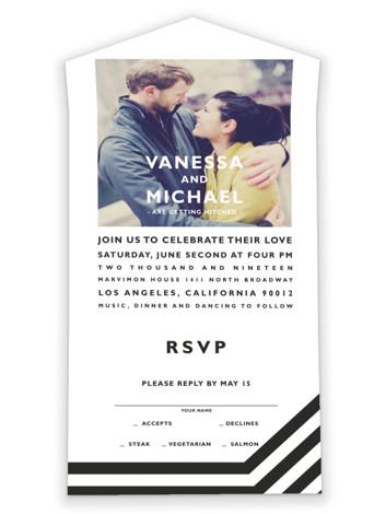 Desenfadado All-in-One Wedding Invitations