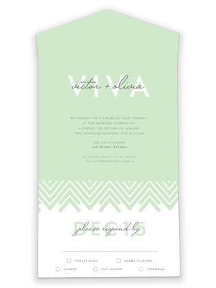 Viva Las Marriage All-in-One Wedding Invitations