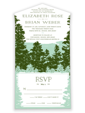 Mountain View All-in-One Wedding Invitations