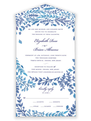 China Plate All-in-One Wedding Invitations