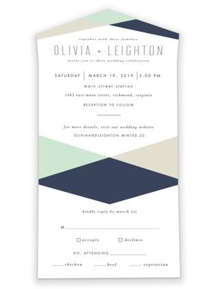 Minimal Mod All-in-One Wedding Invitations
