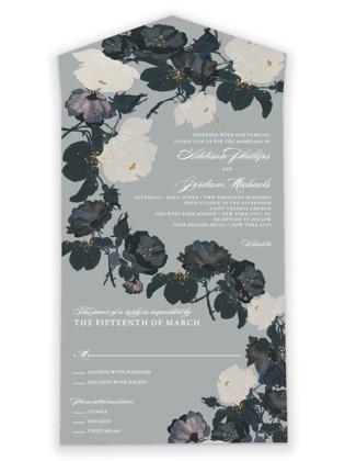 Romanticism All-in-One Wedding Invitations
