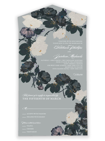 Romanticism All-in-One Wedding Invitations
