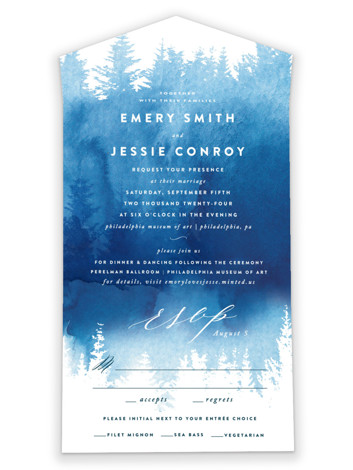 Misty Forest All-in-One Wedding Invitations